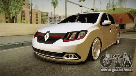 Renault Symbol for GTA San Andreas right view