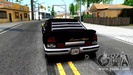 Sentinel Mafia From GTA 3 for GTA San Andreas back left view