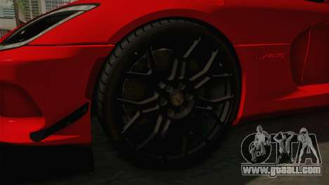 Dodge Viper ACR for GTA San Andreas back view