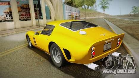 Ferrari 250 GTO (Series I) 1962 IVF PJ1 for GTA San Andreas left view