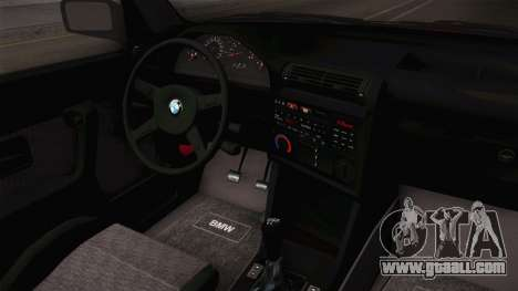 BMW 325i E30 Stance for GTA San Andreas inner view