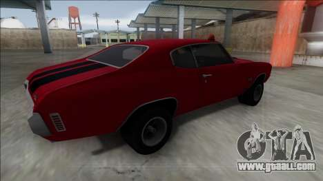 1970 Chevrolet Chevelle SS for GTA San Andreas back left view