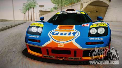 1996 Gulf McLaren F1 GTR (BPR Series) for GTA San Andreas right view