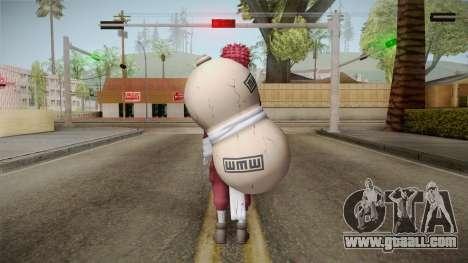 Gaara Red Body Suit for GTA San Andreas third screenshot
