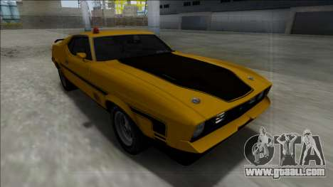 1971 Ford Mustang Mach 1 for GTA San Andreas back view