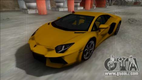 Lamborghini Aventador FBI for GTA San Andreas back left view