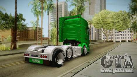 Scania R620 Nestle Milo for GTA San Andreas right view