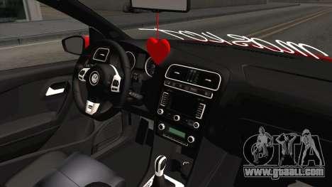 Volkswagen Polo Maskot for GTA San Andreas inner view