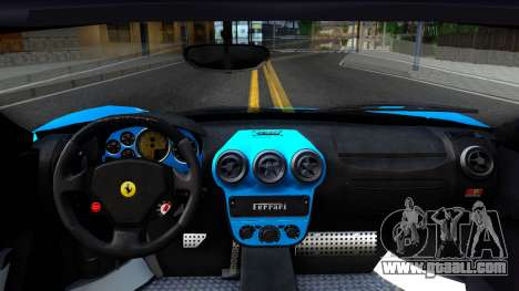 Ferrari Scuderia Nyan Cat for GTA San Andreas inner view