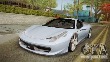 Ferrari 458 Italia FBI for GTA San Andreas