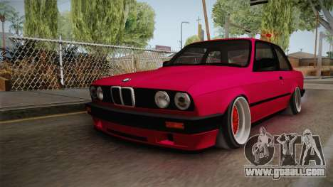 BMW 325i E30 Stance for GTA San Andreas back left view