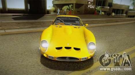 Ferrari 250 GTO (Series I) 1962 IVF PJ1 for GTA San Andreas back view