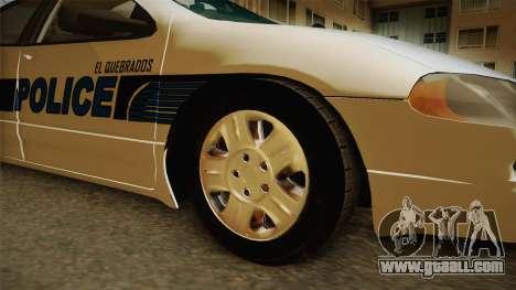Dodge Intrepid 2001 El Quebrados Police for GTA San Andreas back view