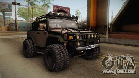 Hummer Wrangler H2 for GTA San Andreas right view