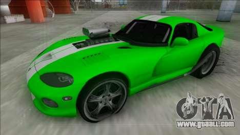 Dodge Viper GTS Drag for GTA San Andreas back view