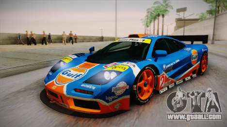 1996 Gulf McLaren F1 GTR (BPR Series) for GTA San Andreas