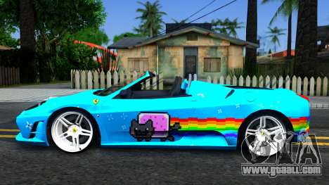 Ferrari Scuderia Nyan Cat for GTA San Andreas left view