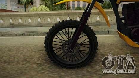 GTA 5 Dinka Enduro SA Style for GTA San Andreas back view