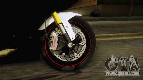 Ducati 1299 Panigale S 2016 Tricolor for GTA San Andreas back view