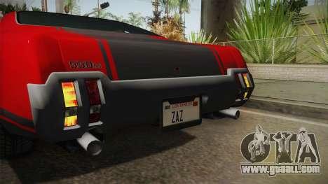 GTA 5 Declasse Sabre GT SA Style for GTA San Andreas side view