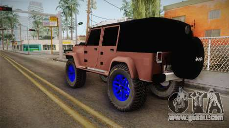 Jeep Wrangler 2012 for GTA San Andreas left view