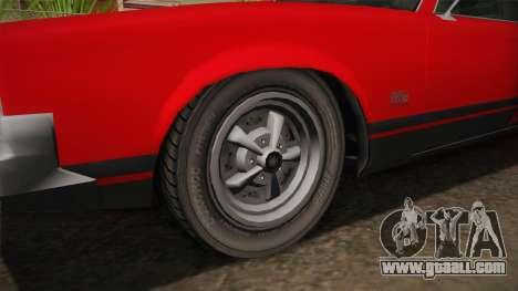 GTA 5 Declasse Sabre GT SA Style for GTA San Andreas back view