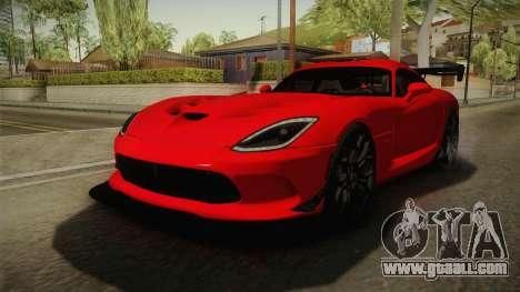 Dodge Viper ACR for GTA San Andreas right view