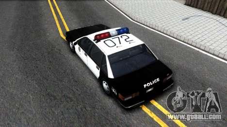 Declasse Premier LSPD for GTA San Andreas back view