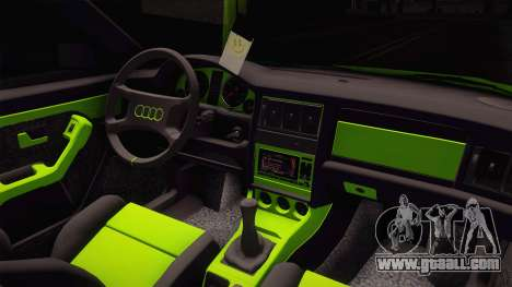 Audi 80 NFS for GTA San Andreas inner view