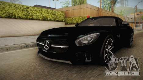Mercedes-Benz AMG GT FBI 2016 for GTA San Andreas right view