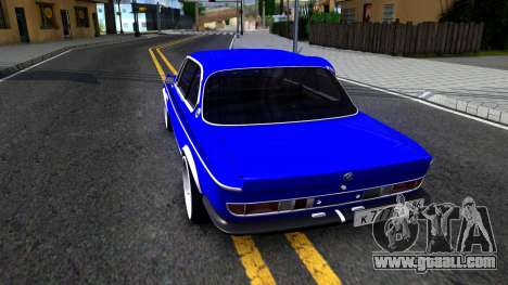 BMW 3.0 CSL for GTA San Andreas back left view