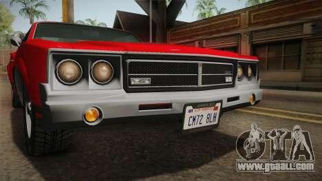 GTA 5 Declasse Sabre GT SA Style for GTA San Andreas upper view