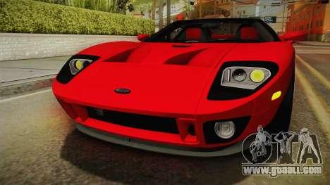 Ford GTX1 FBI for GTA San Andreas upper view