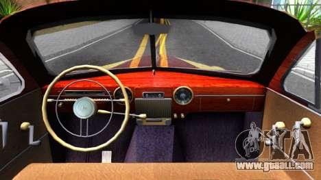 GAZ-12 (ZIM) Phaeton for GTA San Andreas inner view