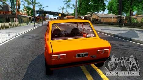 Fiat 128 v3 for GTA San Andreas back left view
