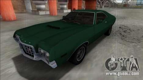 1972 Ford Gran Torino FBI for GTA San Andreas back left view
