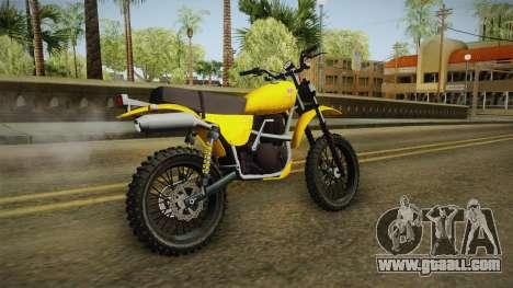 GTA 5 Dinka Enduro SA Style for GTA San Andreas left view