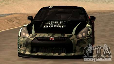 Nissan GTR R35 GTR CLAN for GTA San Andreas side view