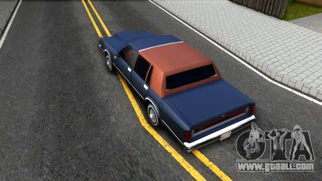 Lincoln Town Car 1981 for GTA San Andreas back view