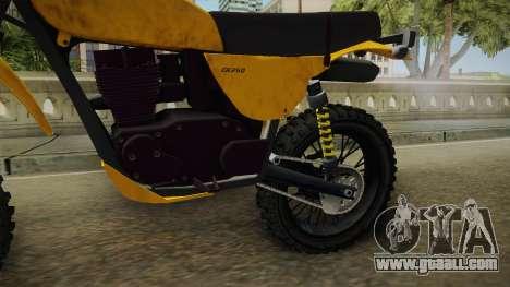 GTA 5 Dinka Enduro SA Style for GTA San Andreas inner view