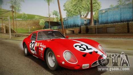 Ferrari 250 GTO (Series I) 1962 IVF PJ1 for GTA San Andreas bottom view