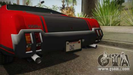 GTA 5 Declasse Sabre GT SA Style for GTA San Andreas inner view