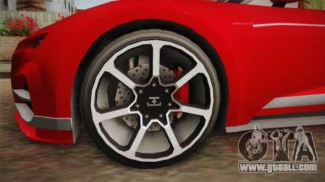 GTA 5 Truffade Nero Spyder for GTA San Andreas back view