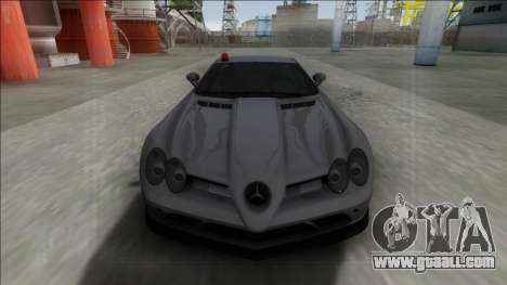 Mercedes-Benz SLR McLaren for GTA San Andreas right view