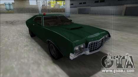 1972 Ford Gran Torino FBI for GTA San Andreas back view