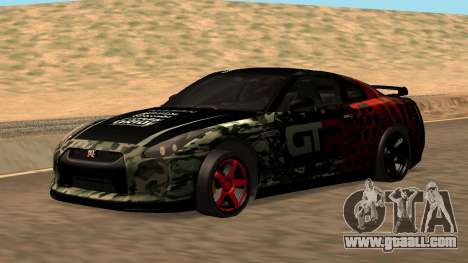 Nissan GTR R35 GTR CLAN for GTA San Andreas inner view