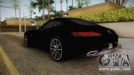 Mercedes-Benz AMG GT FBI 2016 for GTA San Andreas back left view