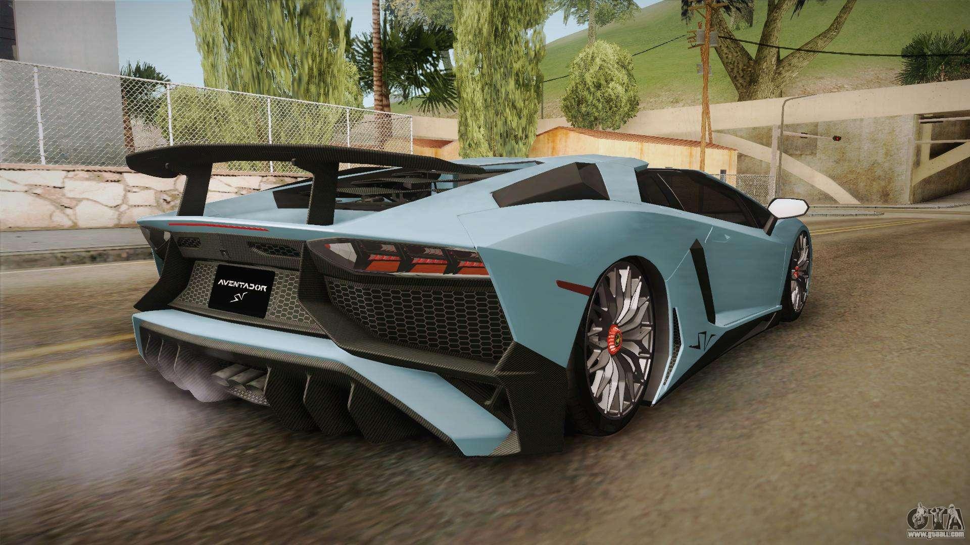 Lamborghini Aventador Sv Roadster 2017 For Gta San Andreas