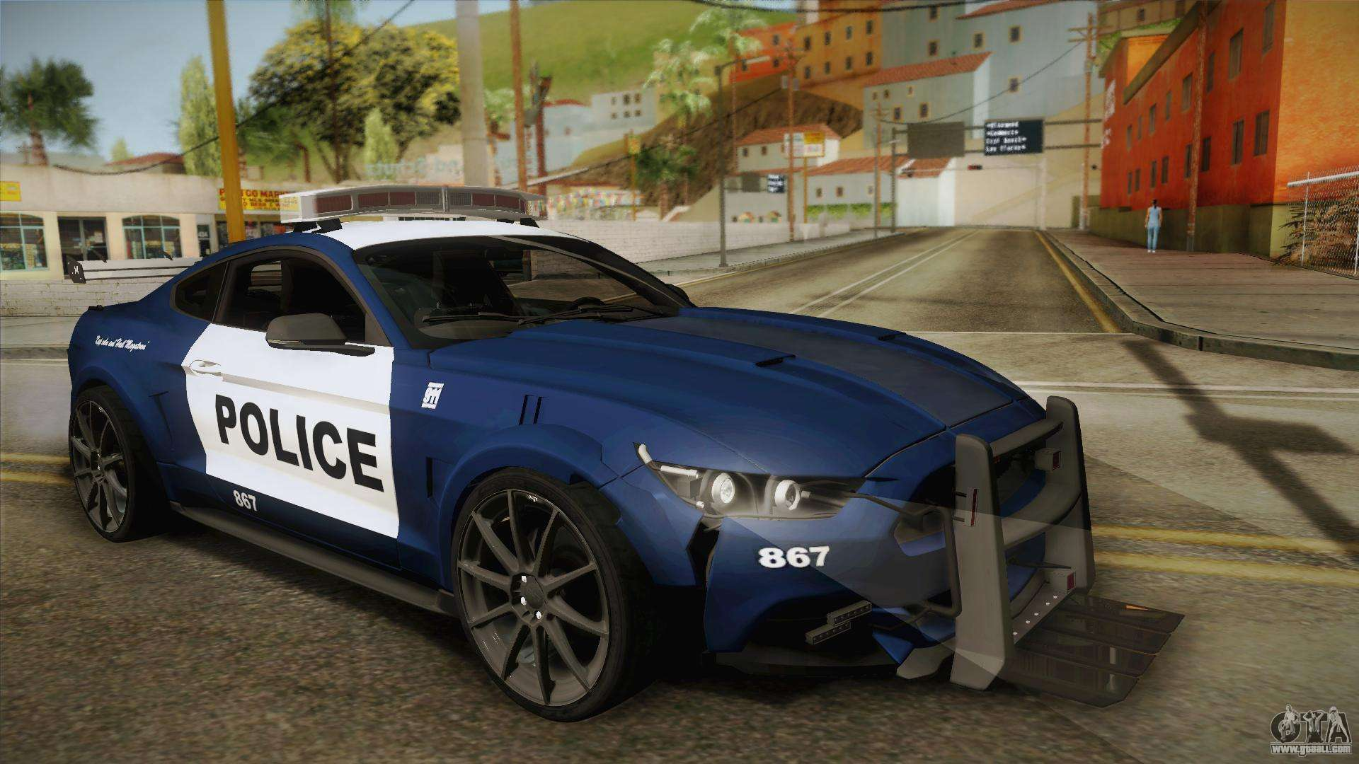 Barricade Vehicle Tractors : Ford mustang gt barricade transformers for gta san