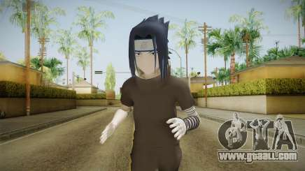 NUNS4 - Sasuke Genin Black Clothes Normal Eyes for GTA San Andreas